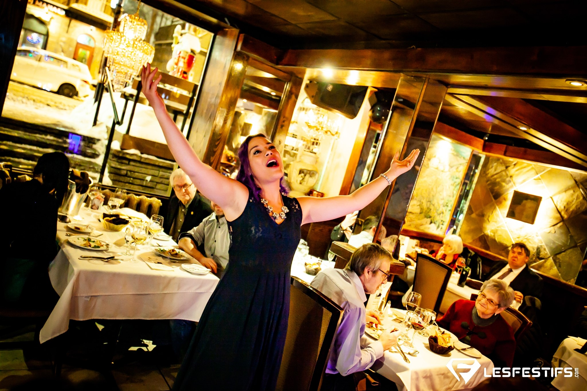 soirée opéra au restaurant italien la scala, vieux-québec